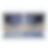 Medium Plus navy blue desk pad designed for use with the Grovemade desk shelf.