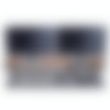The Medium Plus Wool Felt Desk Pad in dark grey with the Walnut Desk Shelf.