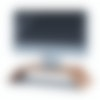 2021 iMac on the Walnut Monitor Stand.